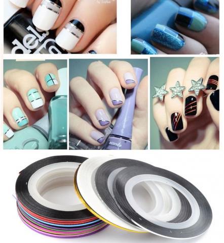 Фото ленточек для дизайна ногтей