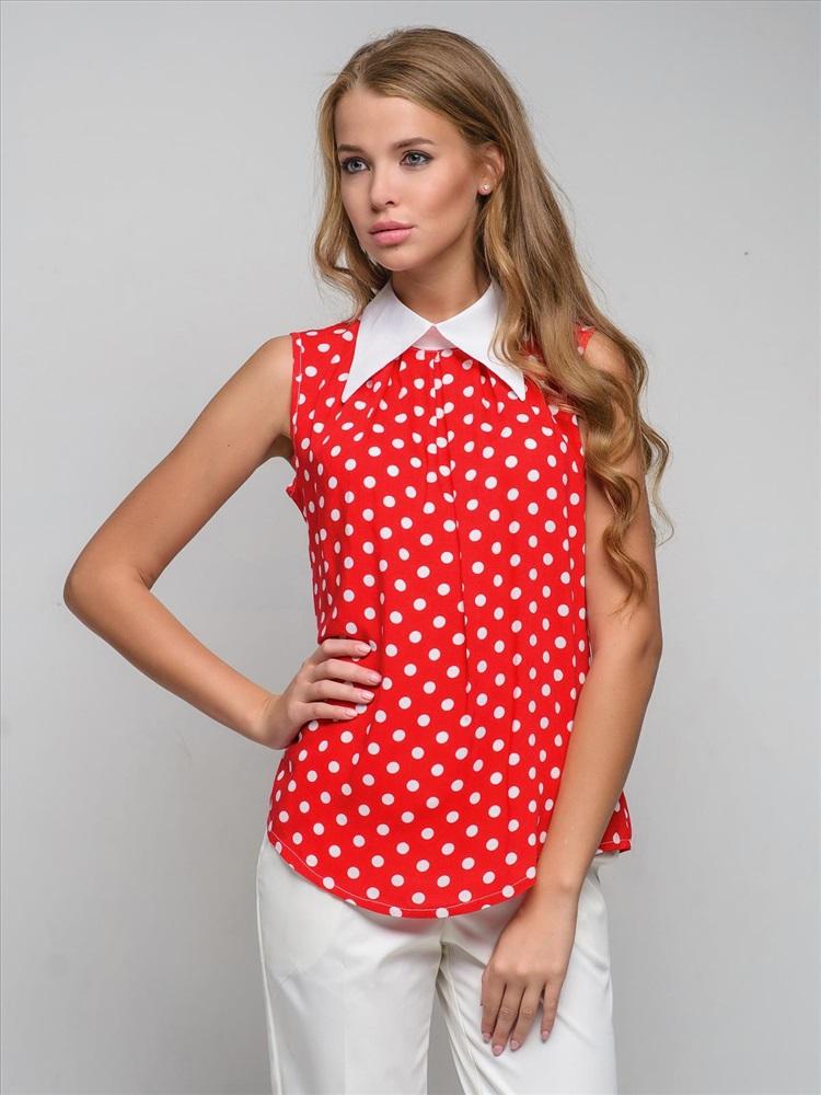 Красно Белая Блузка